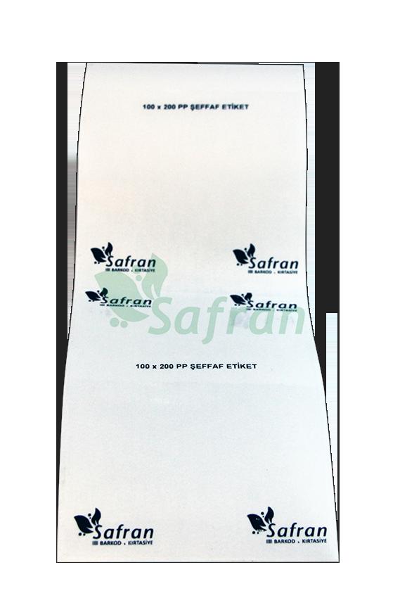 100X200 PVC ŞEFFAF ETİKET ( 150 li )