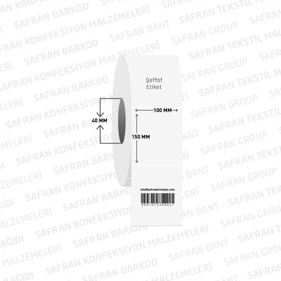100 X 150 PVC ŞEFFAF ETİKET ( 200 lü )