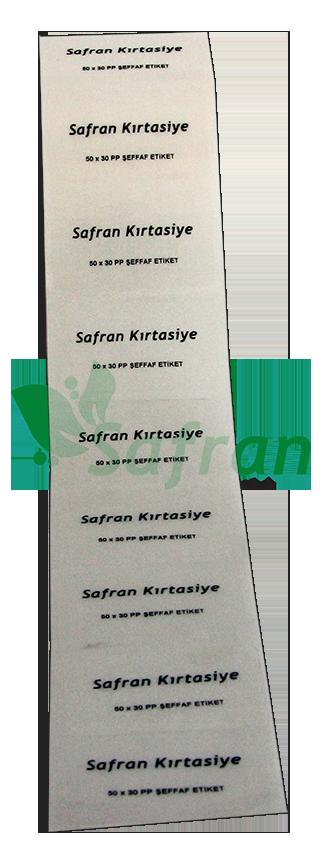 50X30  PVC ŞEFFAF ETİKET ( 1000 li )