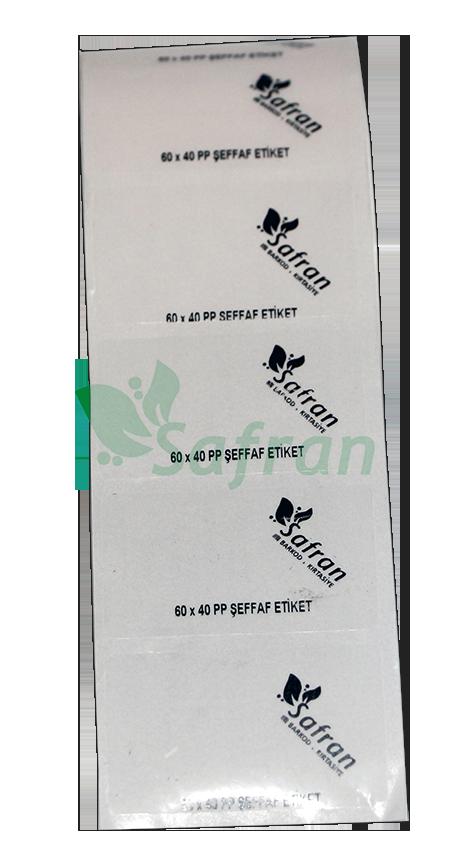 60X40 PVC ŞEFFAF ETİKET  ( 1000 li )