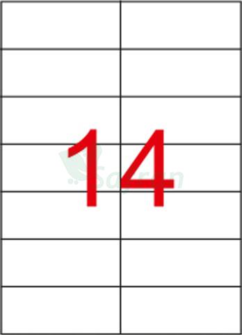 RENKLİ  LAZER ETİKET   105 X 41