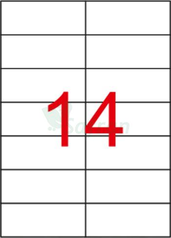 RENKLİ  LAZER ETİKET   105 X 42.12