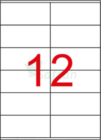 RENKLİ  LAZER ETİKET   105 X 48