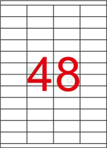 RENKLİ LAZER ETİKET 52.5 X 23