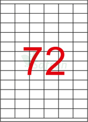SAFRAN LAZER ETİKET 35 X 23