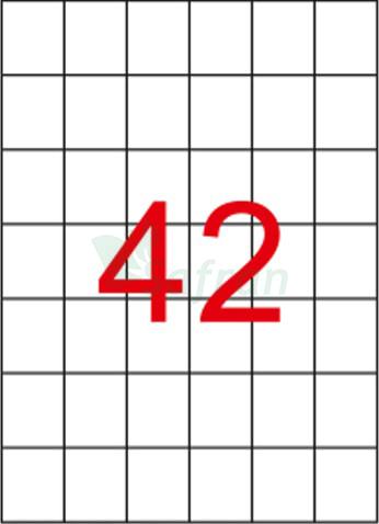 SAFRAN LAZER ETİKET 35 X 42.12