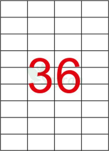 SAFRAN LAZER ETİKET 52.5 X 33