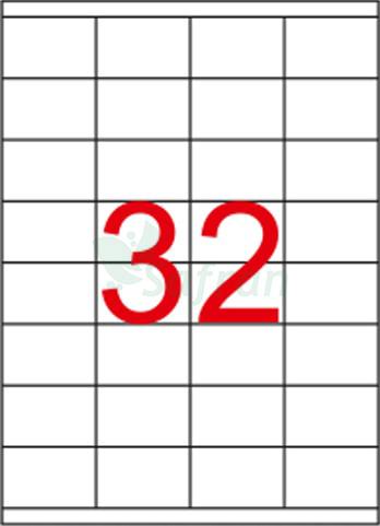 SAFRAN LAZER ETİKET 52.5 X 35