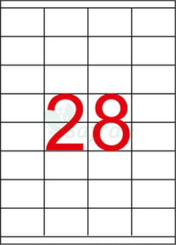 SAFRAN LAZER ETİKET 52.5 X 41