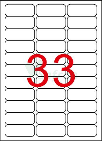 SAFRAN LAZER ETİKET 63.5 X 25.4