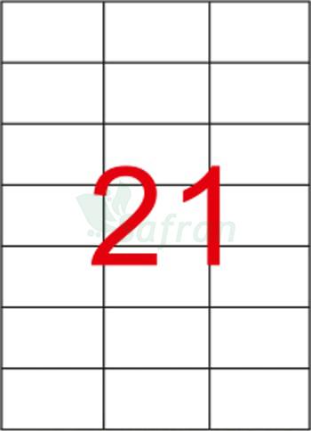 SAFRAN LAZER ETİKET 70 X 42.12