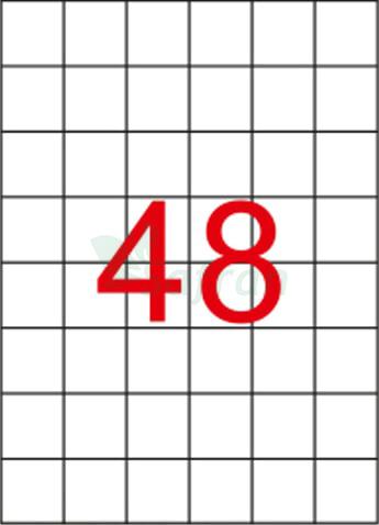 ŞEFFAF LAZER ETİKET 35 X 35