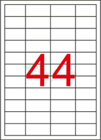 ŞEFFAF LAZER ETİKET 48.5 X 25.4