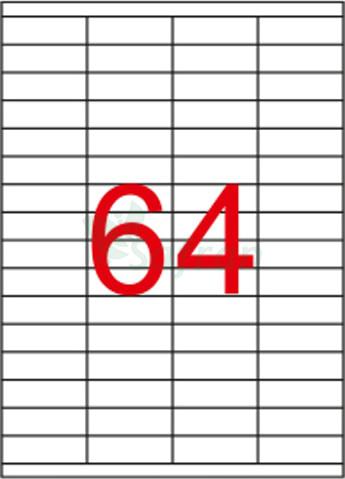 ŞEFFAF LAZER ETİKET 52.5 X 18