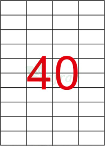 ŞEFFAF LAZER ETİKET 52.5 X 29.68