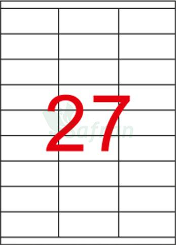 ŞEFFAF LAZER ETİKET 70 X 32