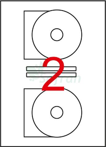 TANEX  LAZER ETİKET  116 X 41  CD